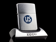 Zippo Cổ US Rubber Brushed Chrome 1962 4 Gạch 1