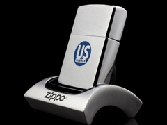 Zippo Cổ US Rubber Brushed Chrome 1962 4 Gạch 2