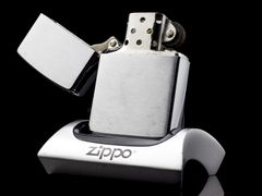 Zippo Cổ 7 Gạch Brushed Chrome 1983 5