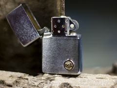 Zippo Cổ USS Brushed Chrome 2 Gạch 1980 6