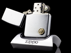 Zippo Cổ USS Brushed Chrome 2 Gạch 1980 5