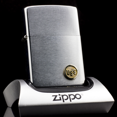 Zippo Cổ USS Brushed Chrome 2 Gạch 1980
