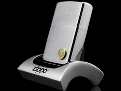Zippo Cổ USS Brushed Chrome 2 Gạch 1980 2