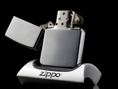 Zippo Cổ Brushed Chrome 1971 3 Gạch Thẳng 4