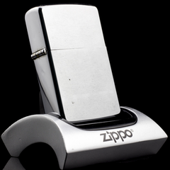 Zippo Cổ Brushed Chrome 1971 3 Gạch Thẳng