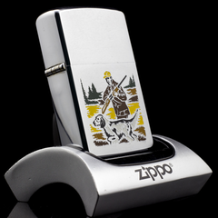 Zippo Cổ Hunter And Dog 2 Gạch Thẳng 1972