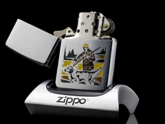 Zippo Cổ Hunter And Dog 2 Gạch Thẳng 1972 3