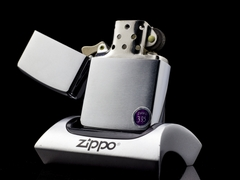 Zippo Cổ Brushed Chrome 1968 6 Gạch  5