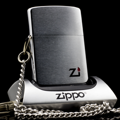 Zippo Cổ Brushed Chrome 1 Gạch 1980