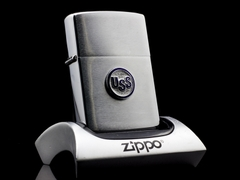 Zippo Cổ USS Brushed Chrome 1964 2 Chấm 2