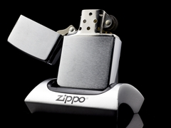Zippo Cổ Brushed Chrome 4 Gạch 1986  5