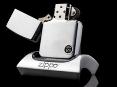 Zippo Cổ Brushed Chrome 8 Gạch 1974 5