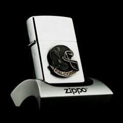 Zippo Falcons Hockey Emblem Brushed Chrome 2000 XVI