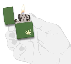Zippo  MarijuanaLeaf on the Side 29588 4