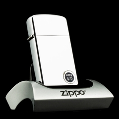 Zippo Slim High Polished Chrome 1960's Mộc Lồi Hiếm
