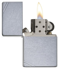 Zippo Street Chrome Vintage with Slashes 267 2
