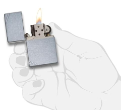 Zippo Street Chrome Vintage with Slashes 267 3