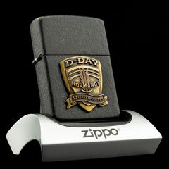 Zippo Used D-Day 50 Years Normandy 1944-1994 X - Đã Sử Dụng