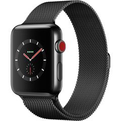 Apple Watch Series 3 42mm Thép Đen  Dây Milanese