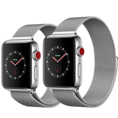 Apple Watch Series 3 38mm Staines Steel Millanese Loop ( 99% full box )
