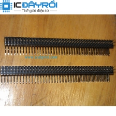 Header 2X40-1.27MM Male RA