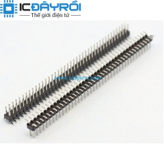 Header 2X40-2.54MM male SMD