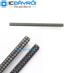 Header 2X40-2.54MM Round Female
