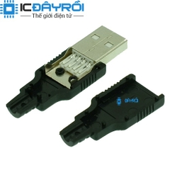 USB A male connector 4P4