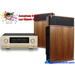 Bộ nghe nhạc Amply Accuphase E-460 + Loa Klipsch Horn
