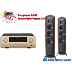 Bộ nghe nhạc Amply Accuphase E-360 + Loa Sonus Faber Venere 3.0