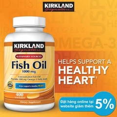 Omega-3 Fish Oil 1000mg Kirkland Signature