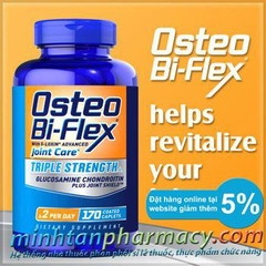 Osteo Bi-Flex Triple Strength with 5-Loxin Advanced Joint Care. Lọ 170 viên