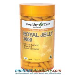 Sữa ong chúa Healthy Care Royal Jelly 1000mg Australia