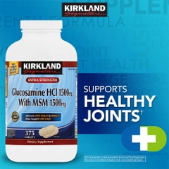 Kirkland Signature Extra Strength Glucosamine HCI 1500mg with MSM 1500mg