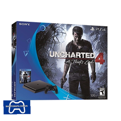 PLAYSTATION 4 SLIM 500GB + UNCHARTED 4 BUNDLE