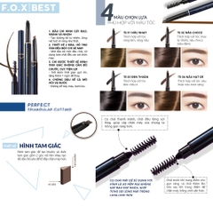 Chì kẻ mày F.O.X Triangular Eyebrow With Brush