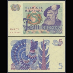 Sweden (Thụy Điển) 5 kronor 1965