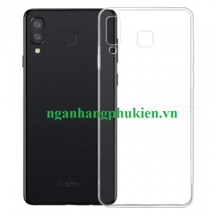 Ốp lưng dẻo trong suốt Samsung Galaxy A8 Star hiệu Oucase