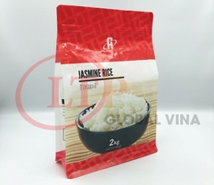 8 Size Seal Box Pouch For Rice JASMINE RICE - Transparent Left & Right