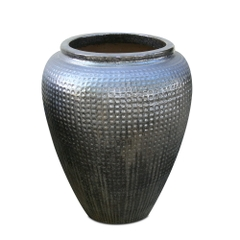 Glazed Dimple Jar