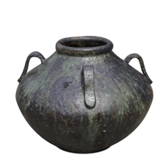 Glazed Dipping Jar With Lugs