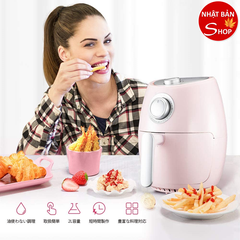 Nồi chiên không dầu CHULUX 2019 Newest Electric Fryer, Non-fryer, Air Fryer, Temperature Timer Function, Frying, No Oil, Tempura, Fries, Frying, Frying, Frying, Frying Feathers, 0.8 gal (2 L) Capacity, Overheating Protection (Pink) HÀNG ORDER