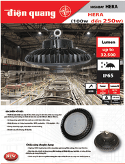 Đèn HighBay HERA (100-250W, MeanWell, Ip65 - IK08)