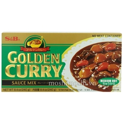 Cà ri cay - Golden Curry Medium Hot (Block) 240g