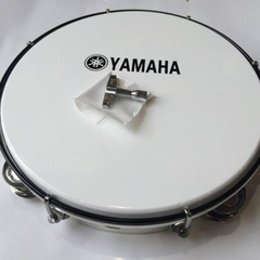 Trống lắc tay Tambourine Yamaha Trắng