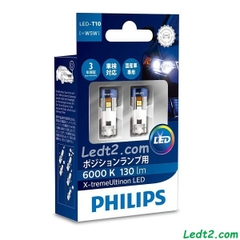 LED T10 Philips Xtreme Ultinon
