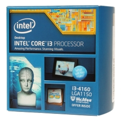 CPU Intel Core i3-4160 (3.60GHz, 3MB L3 Cache, socket 1150, 5GT/s DMI