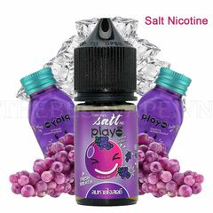 Tinh dầu vape malaysia Salt Nicotine Play Grape 30ml  1