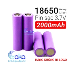 Pin Cell 18650 2000mAh 3.7V xả 5C