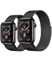 Apple Watch Series 4 44mm Space Black Stainless Steel Case Milanese Loop (GPS+Cellular)
